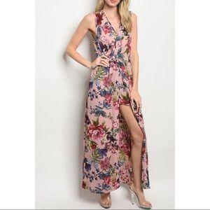 *COMING SOON* Floral Print Romper Maxi Dress